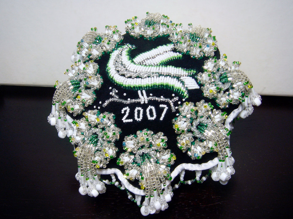 2007 - green bird pincushion.jpg