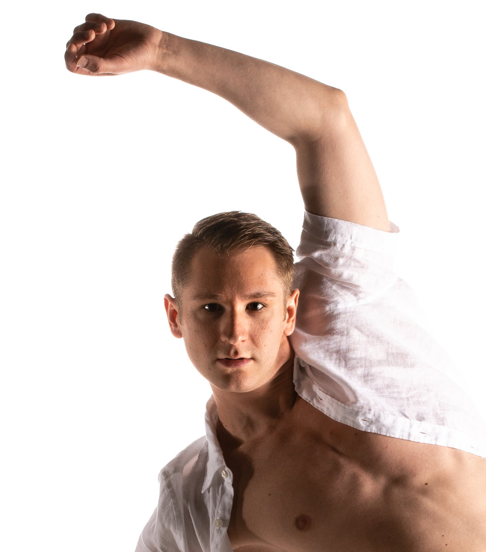 "ALEX HLAVATY, - grew up in southeastern Michigan, beginning his formal dance training at age six. Alex graduated with a Bachelor of Fine Arts in Dance and a minor in Creative Writing from Western Michigan University in May 2015. While at WMU, he performed choreography by Lauren Edson, Gerald Arpino, KT Nelson, Peter Chu, Gabrielle Lamb, Antony Tudor and Ohad Naharin. Alex performed at the Kennedy Center in Washington D.C. during the American College Dance Festival Association in 2012 and was fortunate to be able to study dance in New York City with Gibney Dance and in Montréal with O Vertigo and Les Ballets Jazz de Montréal. Alex was selected to dance for musical legend Bobby McFerrin in the 2016 improvisational concert ""Bobby Meets Michigan"" at the Wharton Center for Performing Arts in East Lansing, MI. Alex was excited to perform and teach on tour with Eisenhower Dance Detroit in Tel Aviv, Israel and Lądek Zdrój, Poland in 2017. Alex has choreographed for several artistic platforms from formal dance concerts to Ballets to Musical productions. He choreographed for Youth American Grand Prix 2018 in Pittsburgh, and his choreography received a top twelve placement."