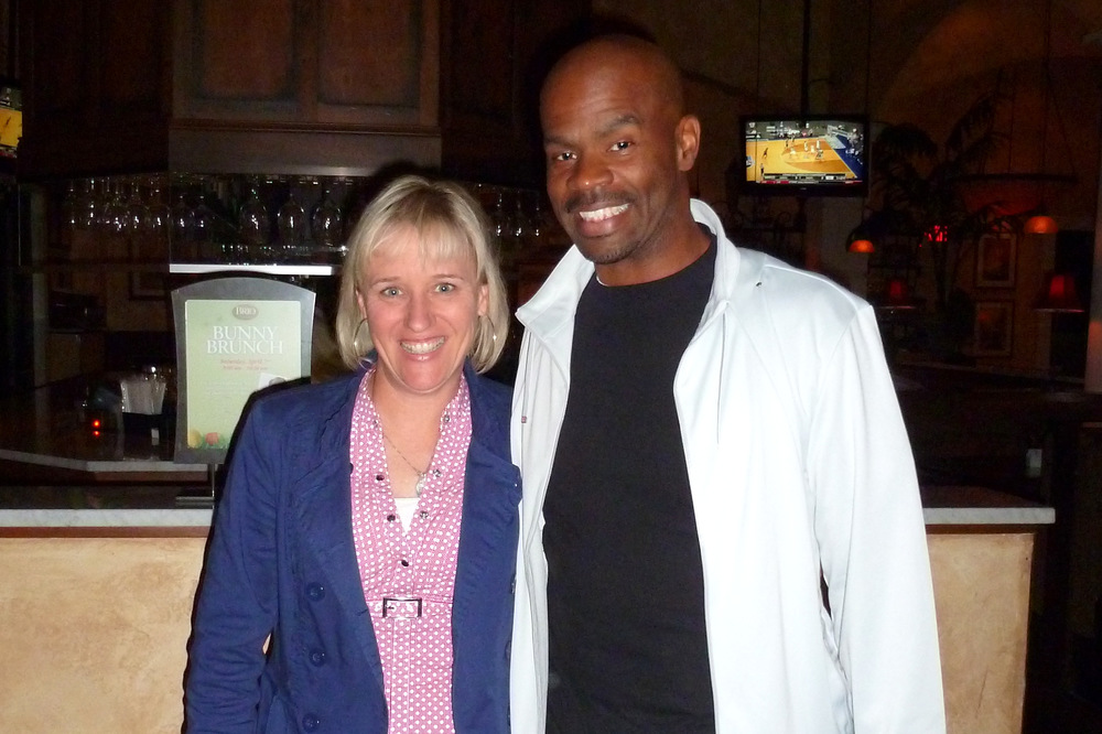 With  Michael Jr , who mentored Christine her first year in comedy.