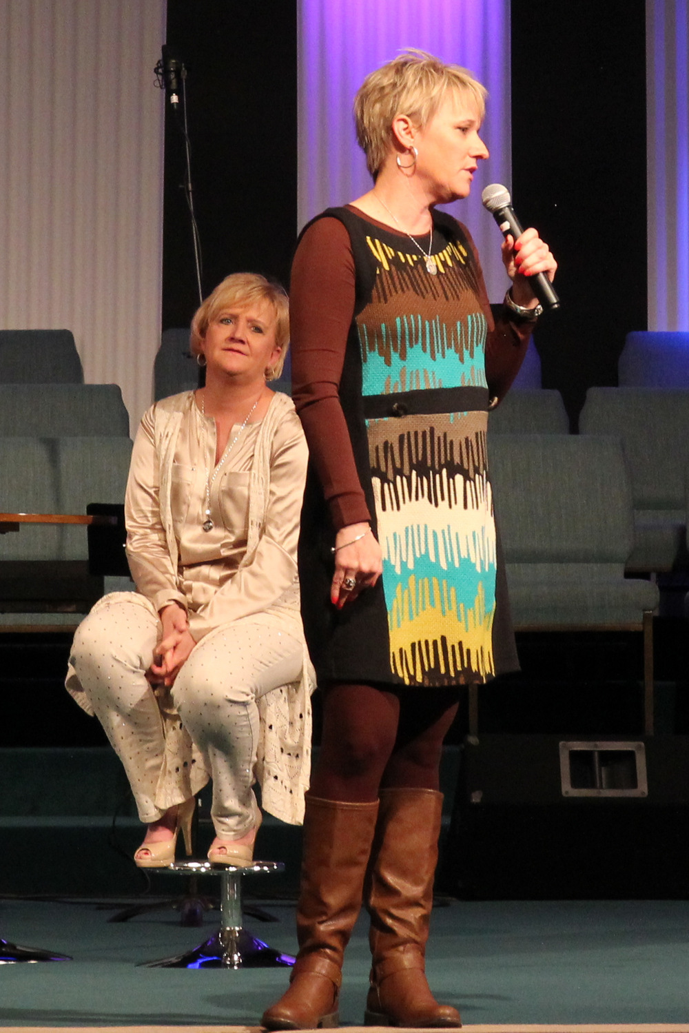 Honored to perform with veteran comedian Chonda Pierce.