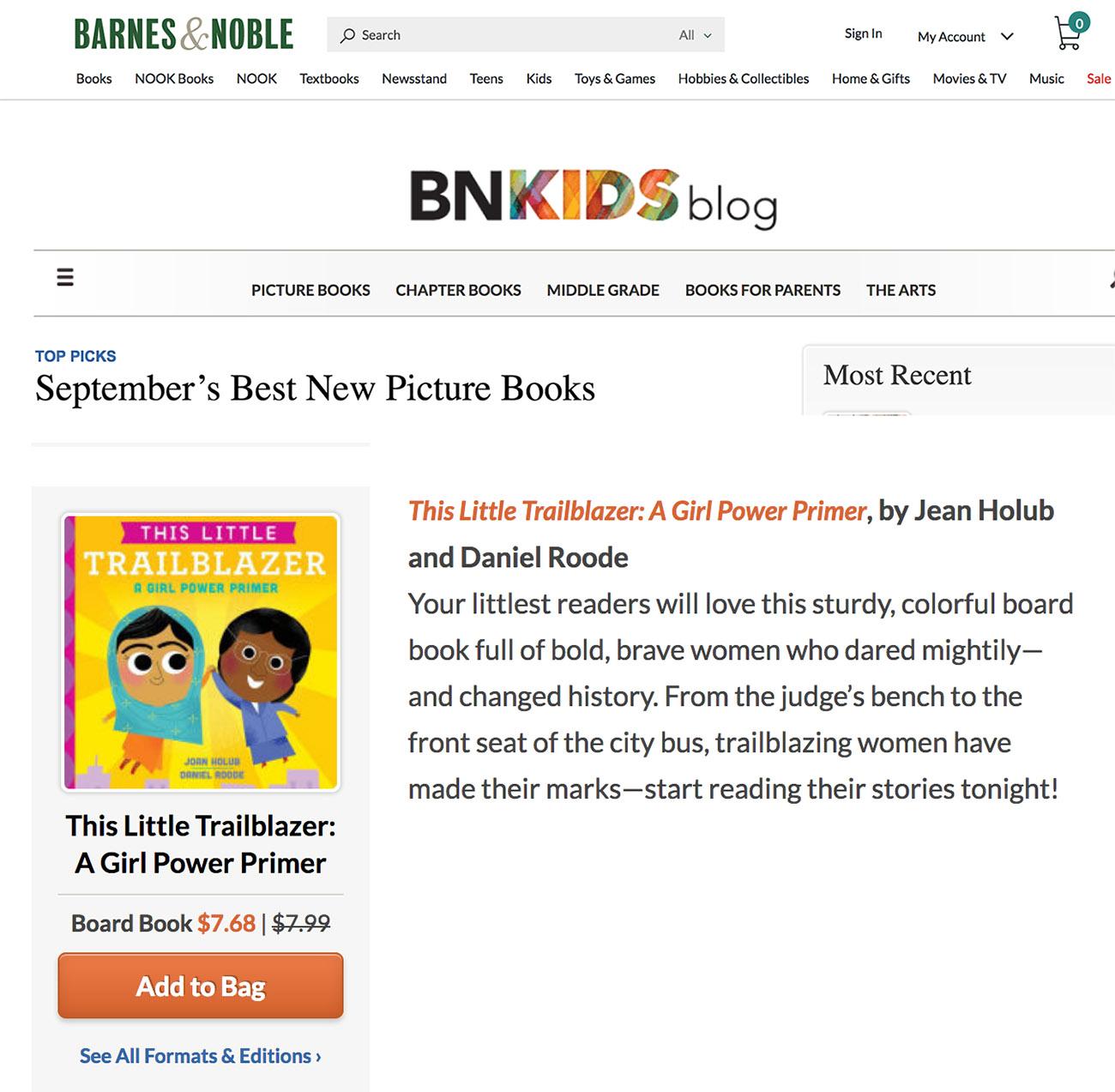 This Little Trailblazer: A Girl Power Primer is a Barnes & Noble ...