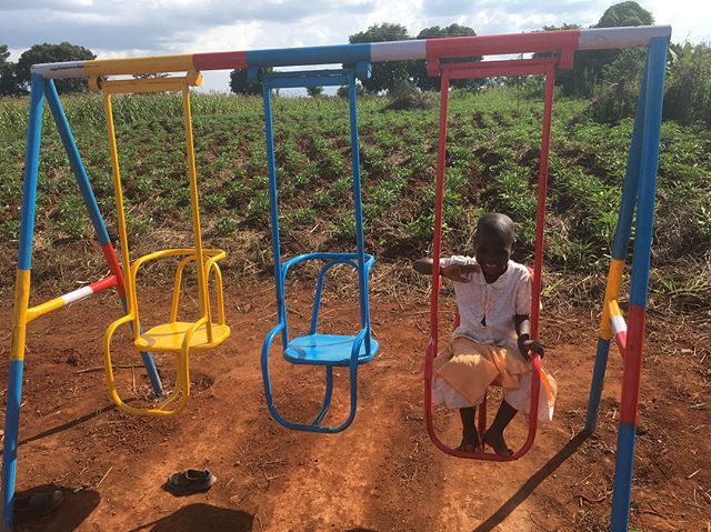 Kids playing on our new playground equipment! There is nothing quite like hearing the laughter of a child experiencing something for possibly the first time, and seeing their smiles grow deep with such joy! Oh praise the one from whom all blessings flow!