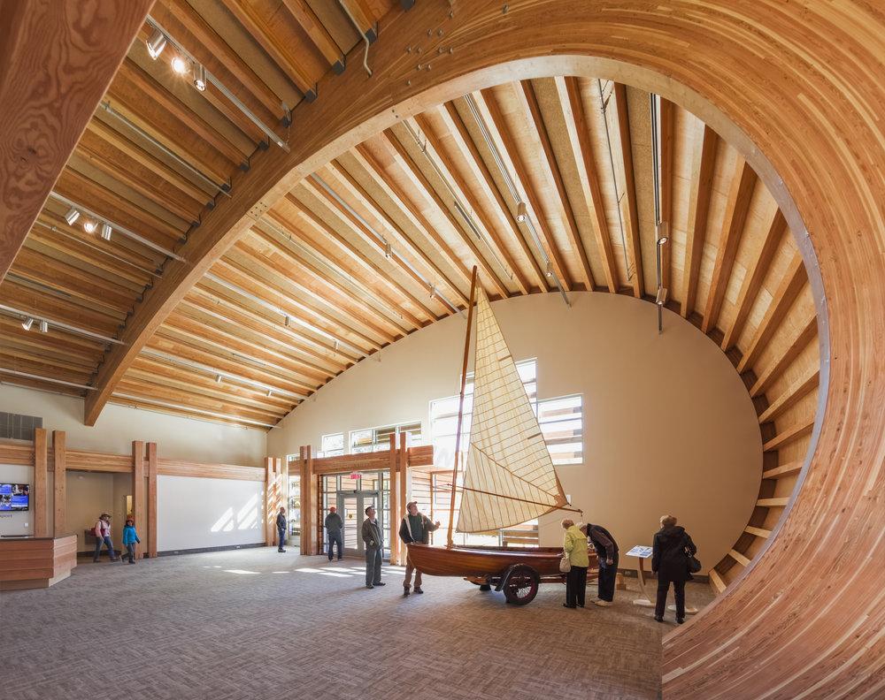 Thompson Exhibit Building, Mystic Seaport CT, Centerbrook. © Jeff Goldberg/Esto