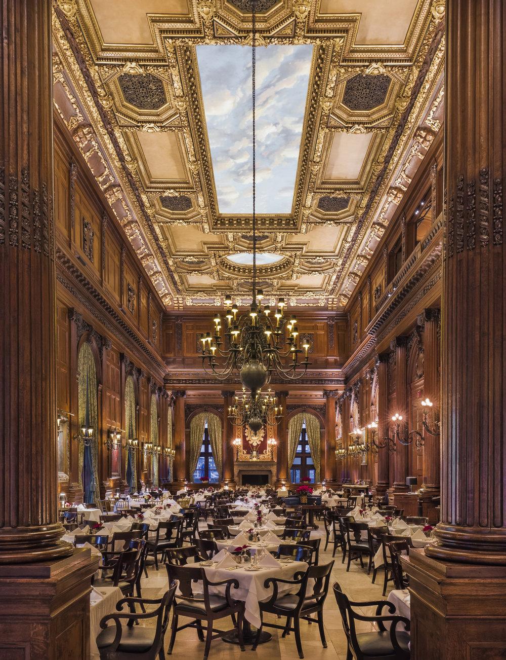 Private Club Dining Room, Location: New York, New York, Lighting