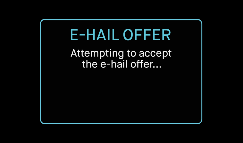 - Multiple drivers can accept the same offer. If you accept the offer the system will allocate the E-Hail to the most appropriate driver.