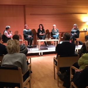 """Dangerous Nordic Women"" panel, featuring Sara Blaedel front & center in this photo!"