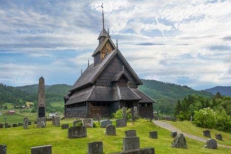 The Eidsborg Stave Church. Photo via VisitNorway.