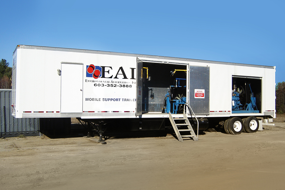 CO  2 Ice Blast Mobile Support Trailer - Courtesy Environmental Alternatives Inc.