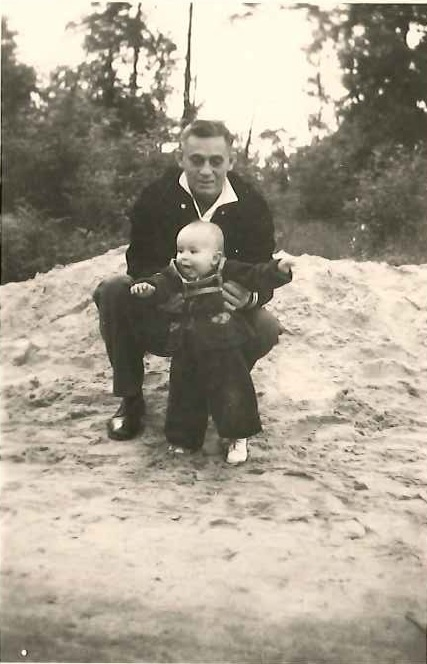 Photo: Bud with his father.