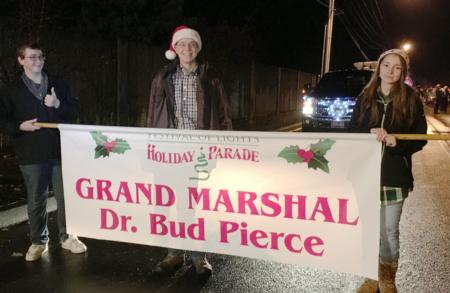 Photo: Grand Marshal Bud at the Festival of Lights Holiday Parade.