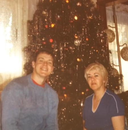 Photo: Bud with his mom, Erika (aka Grandma Oma), around Christmas time.