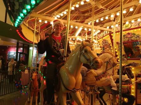 Photo: Bud Pierce getting into the holiday spirit at Salem's Riverfront Carousel.