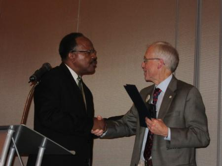 Photo: Bud with Benny Williams, President of the Salem-Keizer NAACP.
