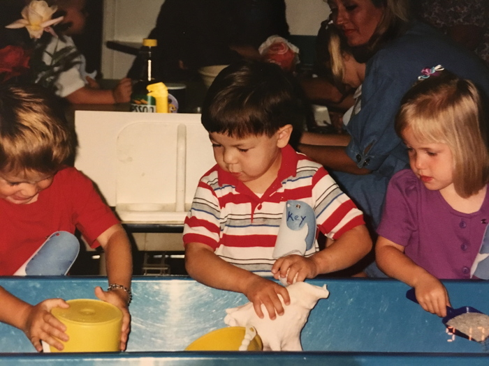 Photo: Michael, Bud's son, as a child, at school.