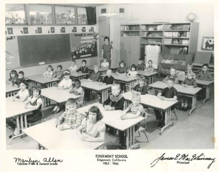 Photo: Bud and his class in elementary school.