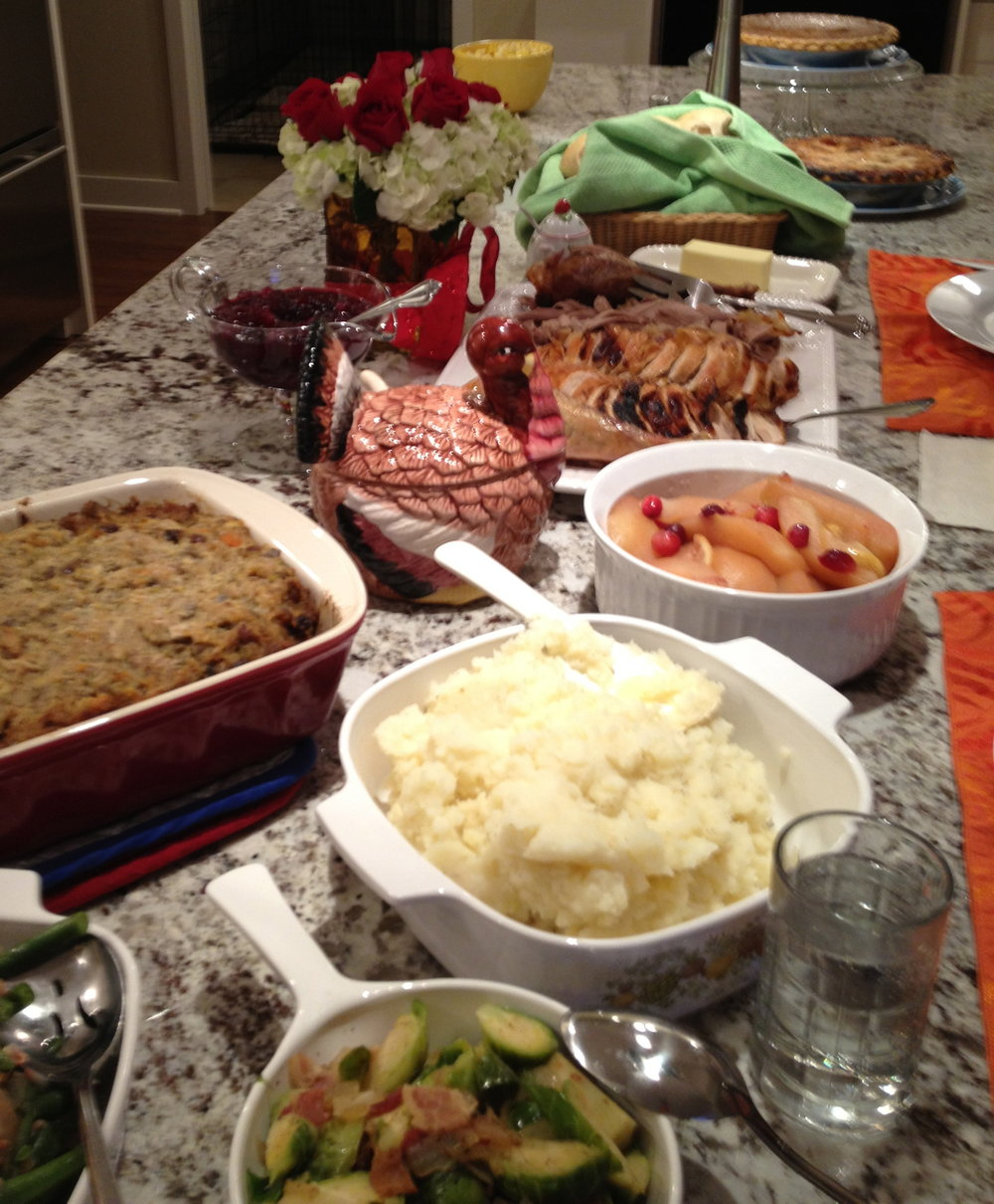 Some of our Thanksgiving meal.