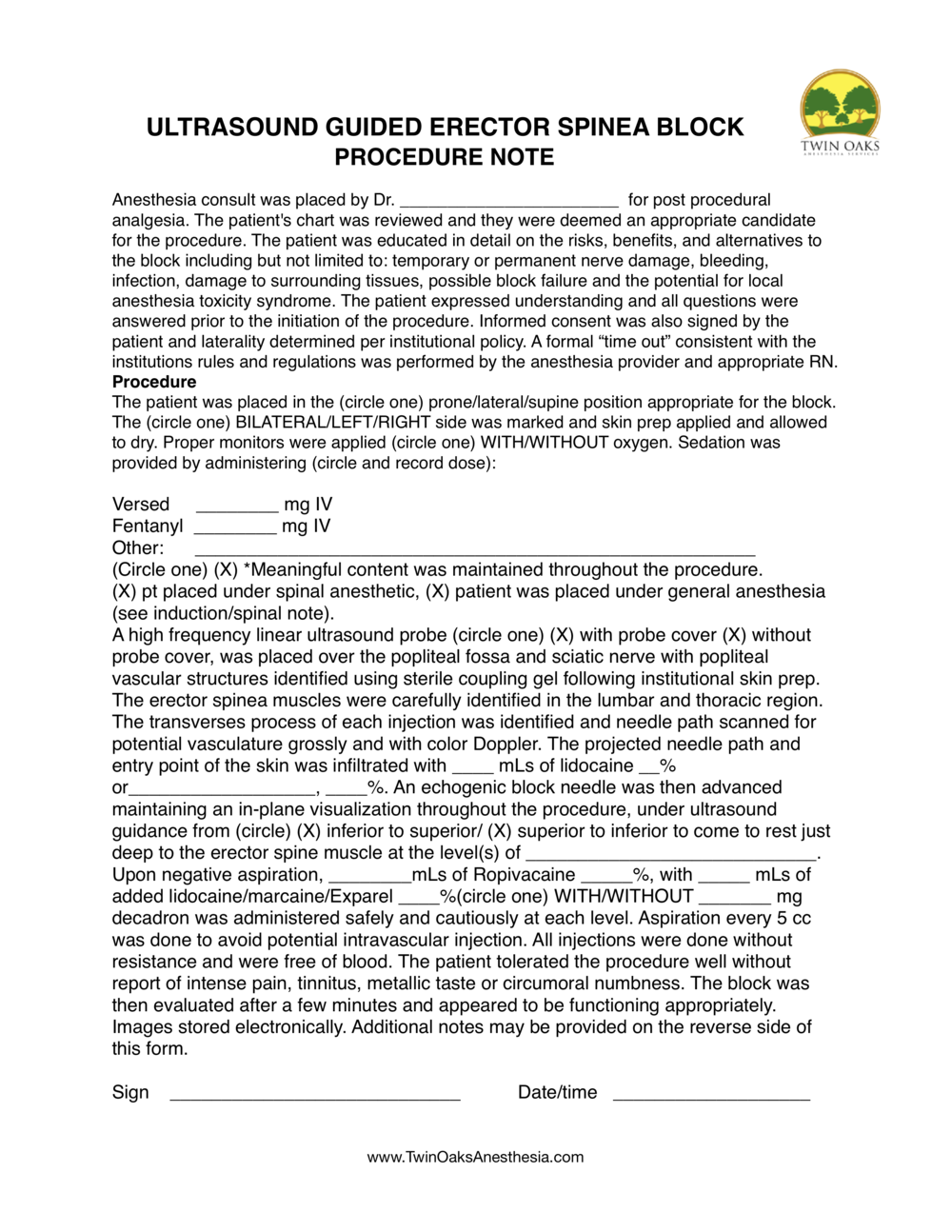 erector spinea procedure Form.png