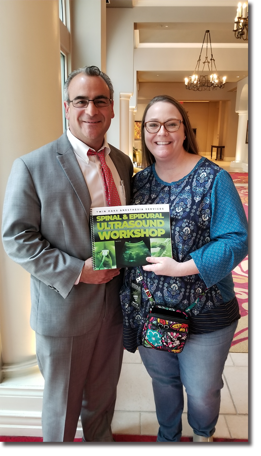 Lauren Martin - Jonathan Kline with 2018 winner, Lauren Martin, at our Spinal & Epidural Ultrasound Workshop in Tampa. She won a free course and this is where her and her husband (also a CRNA) chose to come. Congratulations!