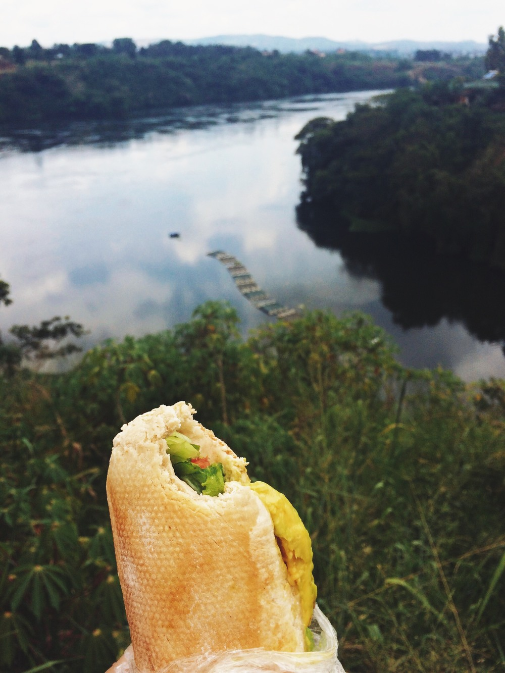 Picnic lunch overlooking the Nile River.