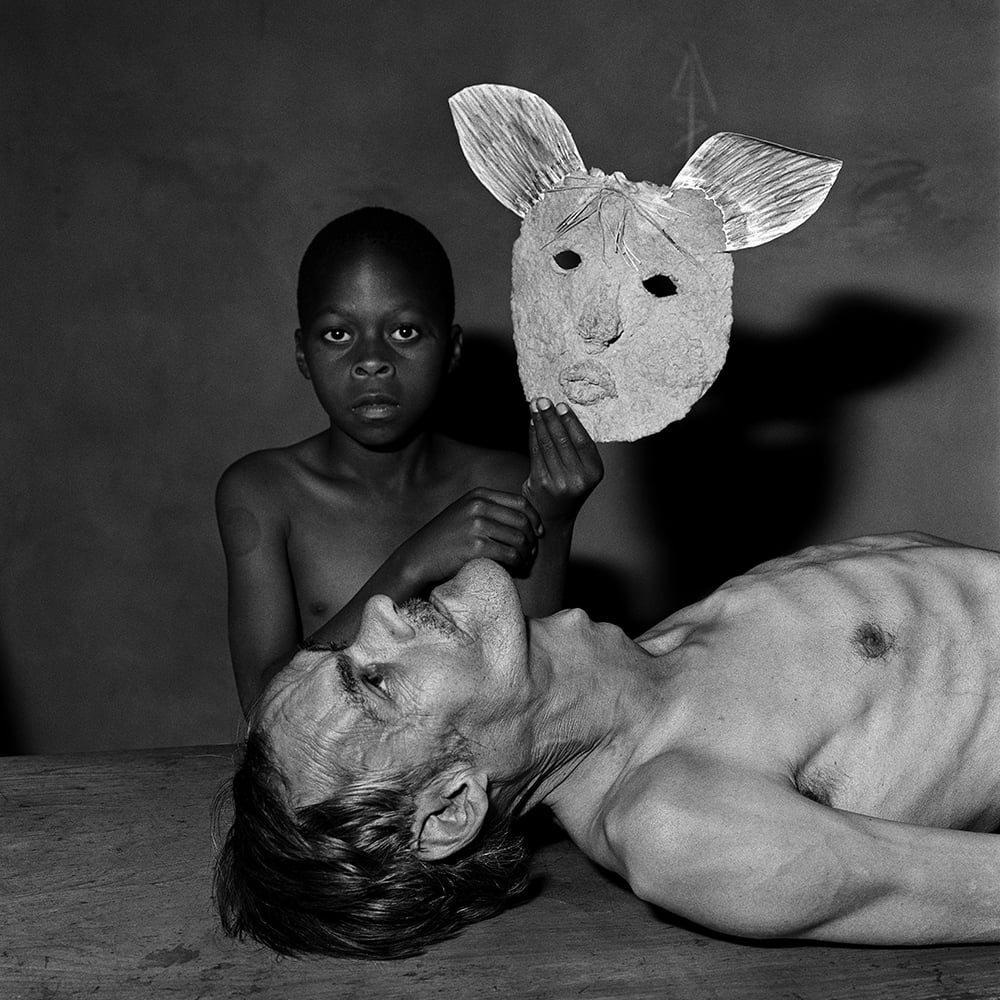 Roger Ballen- Tommy, Samson and a mask 2000