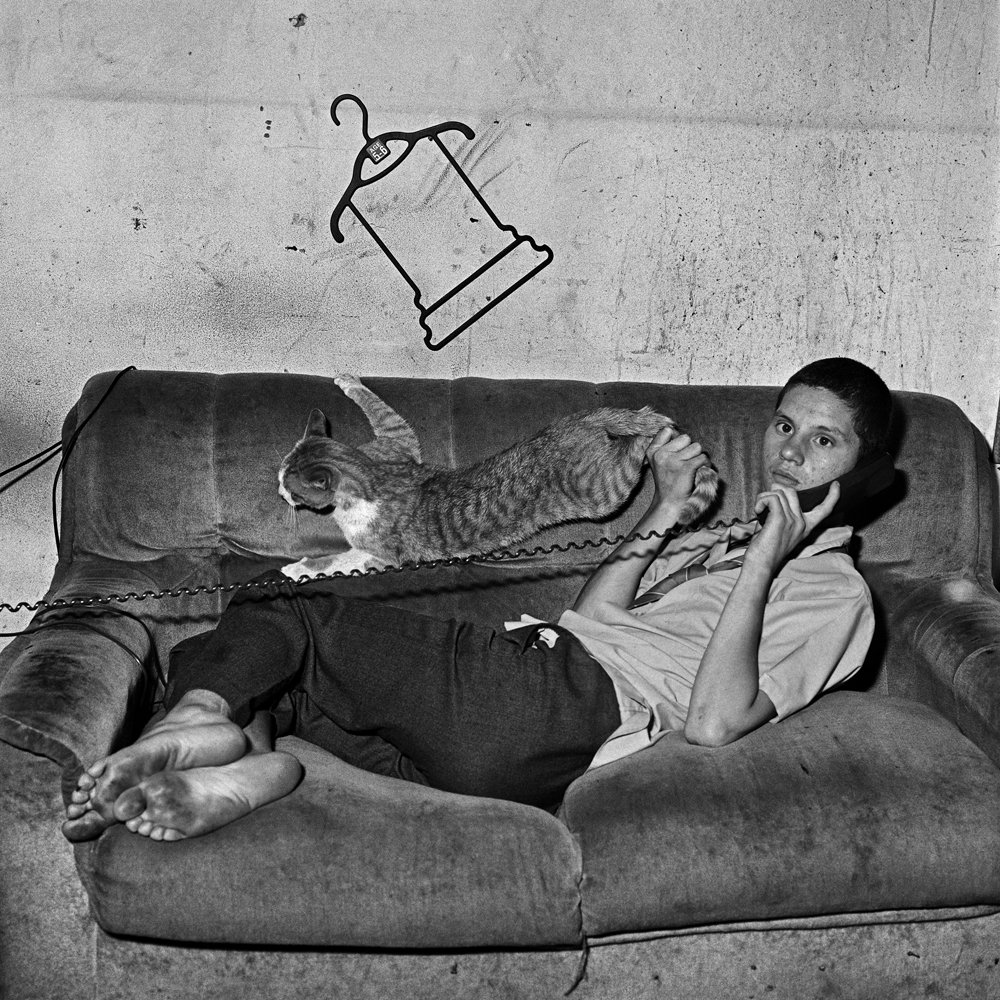 Eugene on the Phone - 2000 - by Roger Ballen