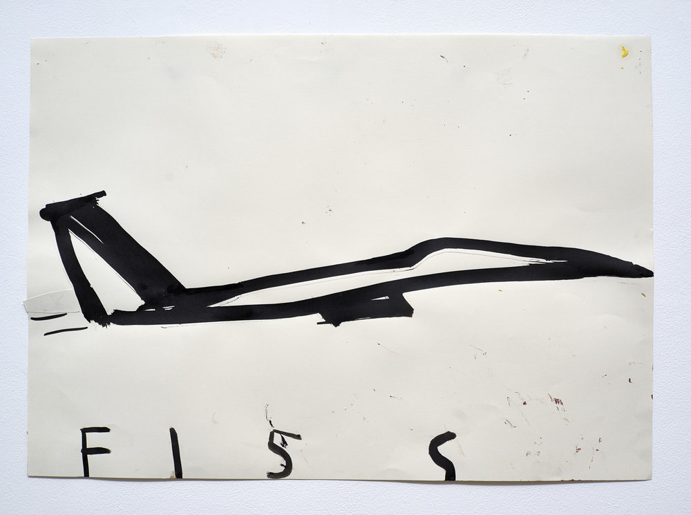 Rose Wylie -  American Bomber F15S - 2013
