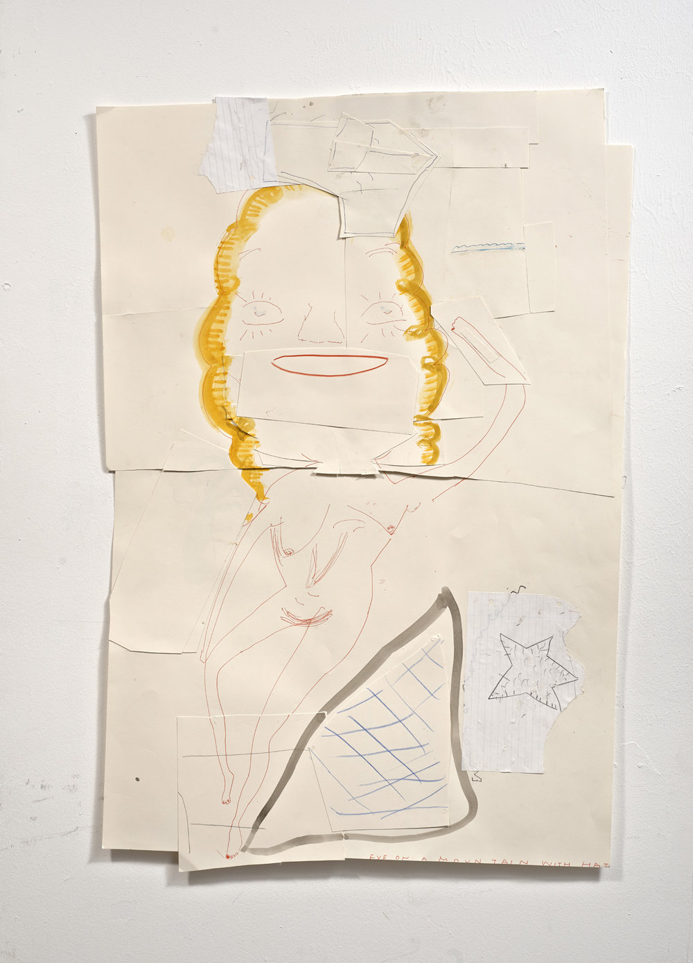 Rose Wylie - Eve on a Mountain with Hat