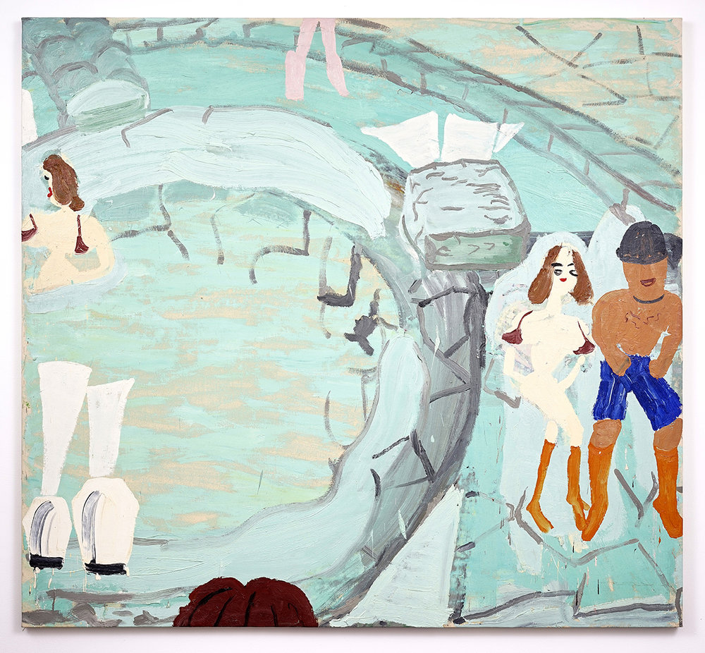 Rose Wylie - Manor 2004 - Oil on Canvas - 183 x 188 cm - Courtesy WILLAS contemporary