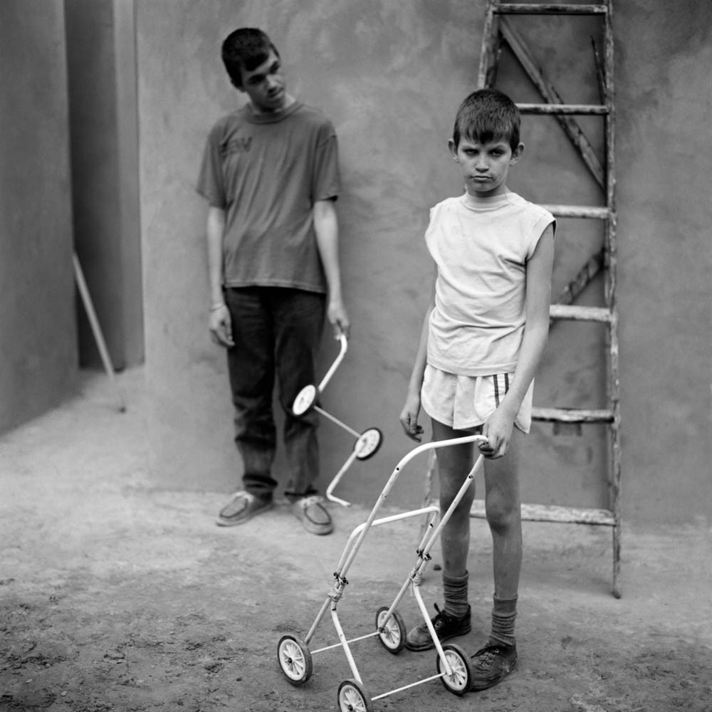 Roger Ballen - Boys with Baby Carriage, 1997