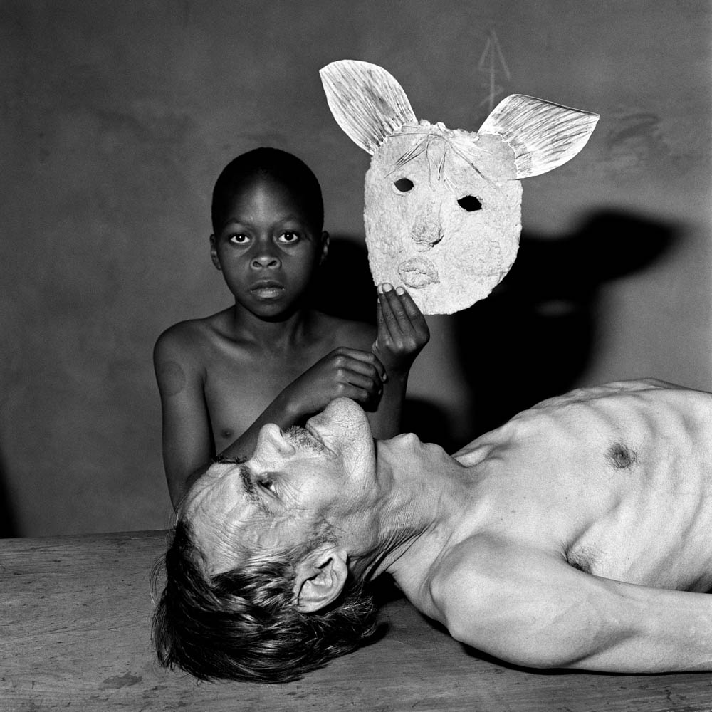 Roger Ballen - Tommy, Samson and a Mask, 2000