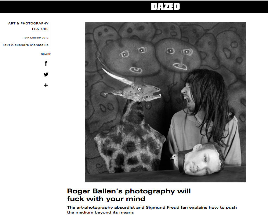 BALLENESQUE featured in Dazed & Confused.