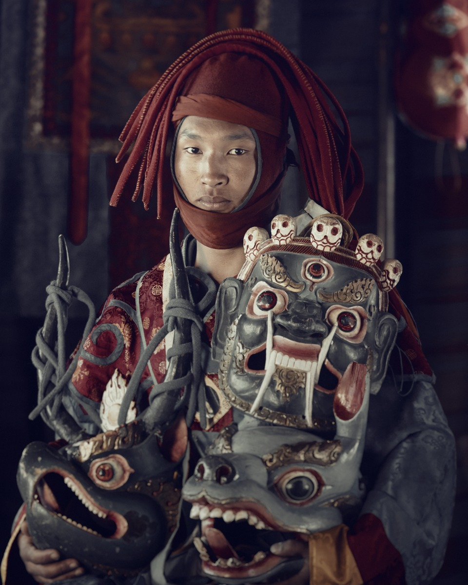 Jimmy Nelson - XXIX 4   Mask dancer,  Paro, Bhutan 2016  A