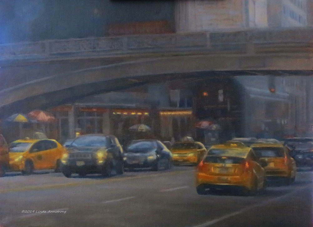 Pershing Square oil 12x16  https://cortilegallery.com/