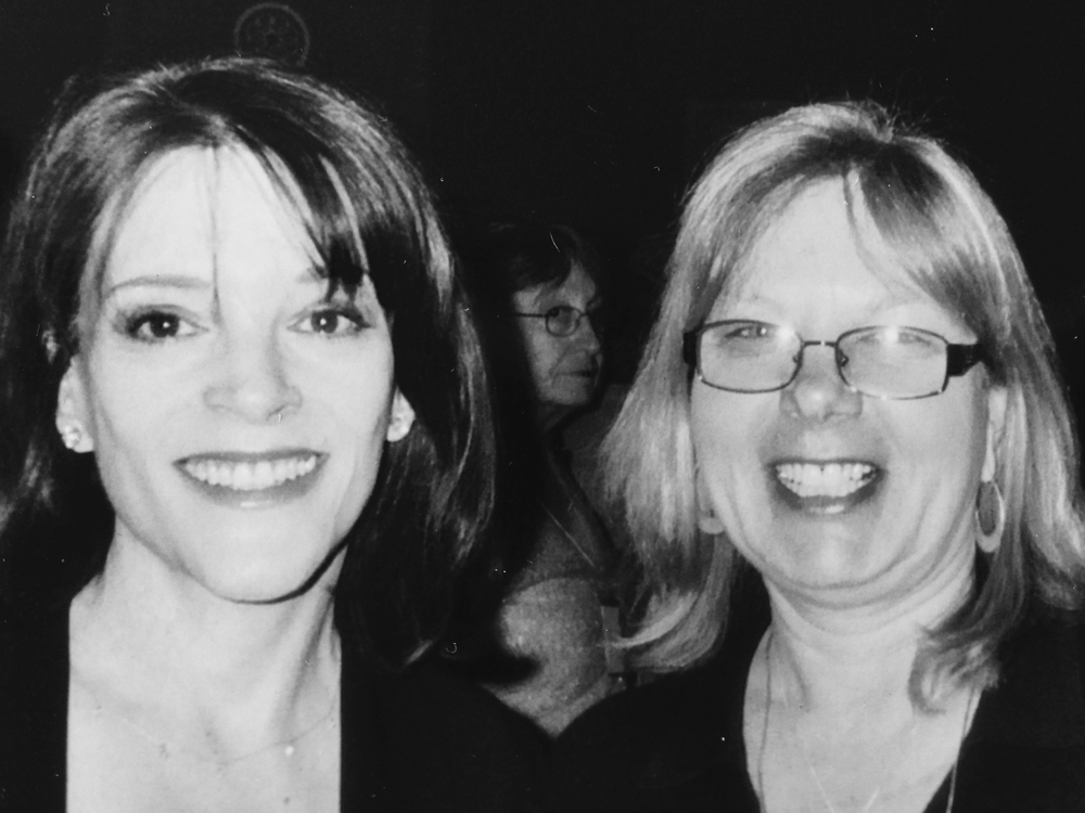 Elly with Marianne Williamson,  author and lecturer.