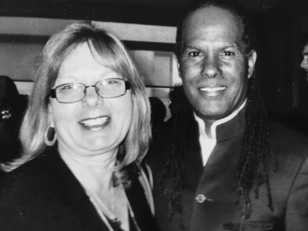 Elly with Michael Bernard Beckwith  founder of the Agape International Spiritual Center.
