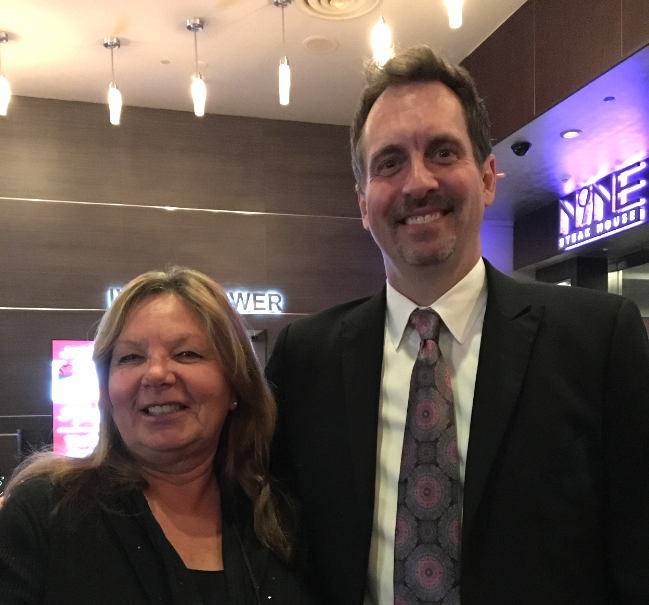 Elly with Dave Dee , Mentalist and Psychic Marketer. December 2015