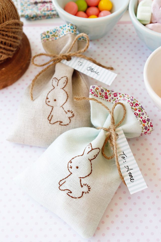 Wee Brown Bunny Gift Bags