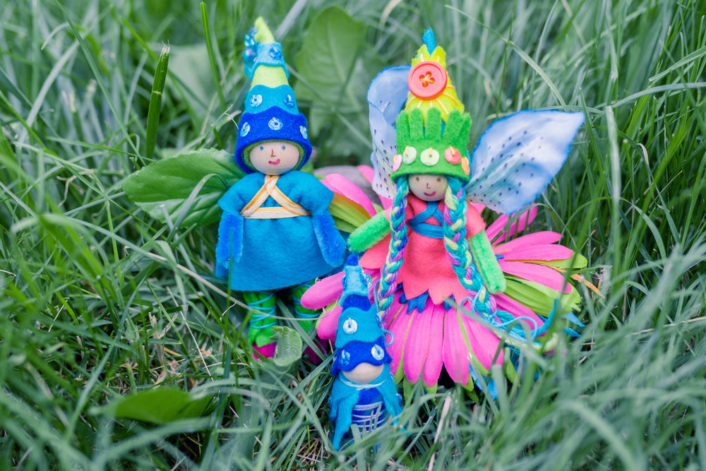 Summer Fairy Family | Dolls and Gnome by Lenka Vodicka for crafting with children | Forest Fairy Crafts | Magical Forest Fairy Crafts through the Seasons