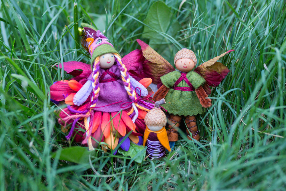 Autumn Fairy Family | Dolls and Gnome by Lenka Vodicka for crafting with children | Forest Fairy Crafts | Magical Forest Fairy Crafts through the Seasons