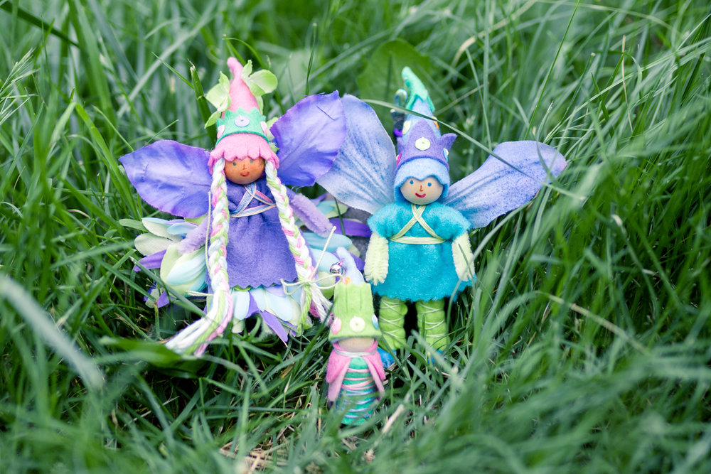 Spring Fairy Family | Dolls and Gnome by Lenka Vodicka for crafting with children | Forest Fairy Crafts | Magical Forest Fairy Crafts through the Seasons