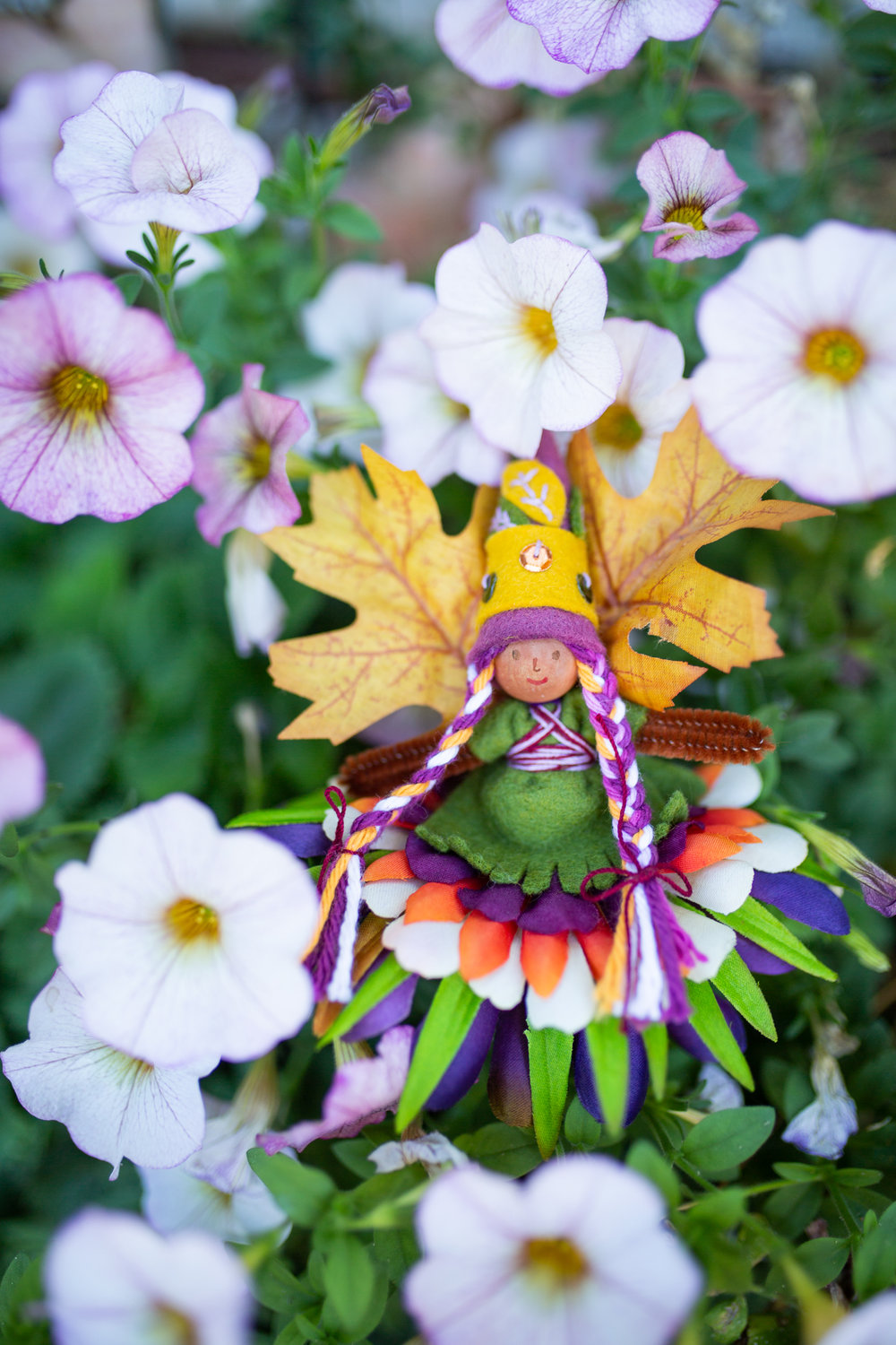 Thankful Fairy from Magical Forest Fairy Crafts Through the Seasons by Lenka Vodicka-Paredes and Asia Currie | Fairy doll for crafting with children