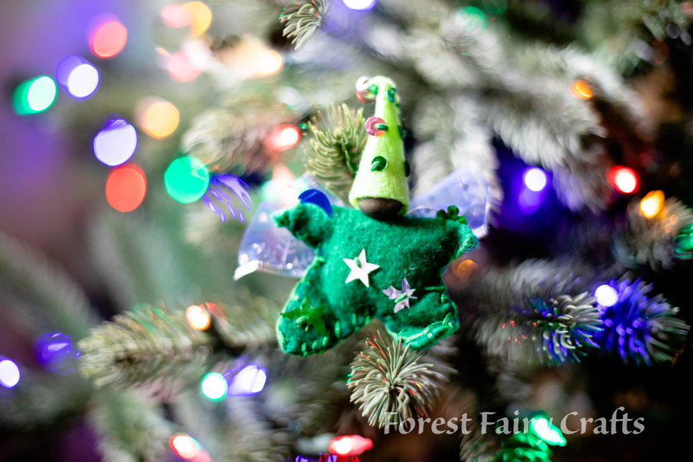 Star Babies made by Children using Forest Fairy Crafts Book by Lenka Vodicka-Paredes and Asia Currie | Christmas Ornaments and Decorations with Fairy Dolls and Felt Crafts