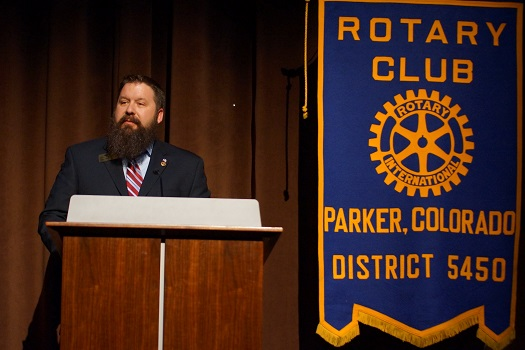 Mike Waid Giving a Speech During A Meeting