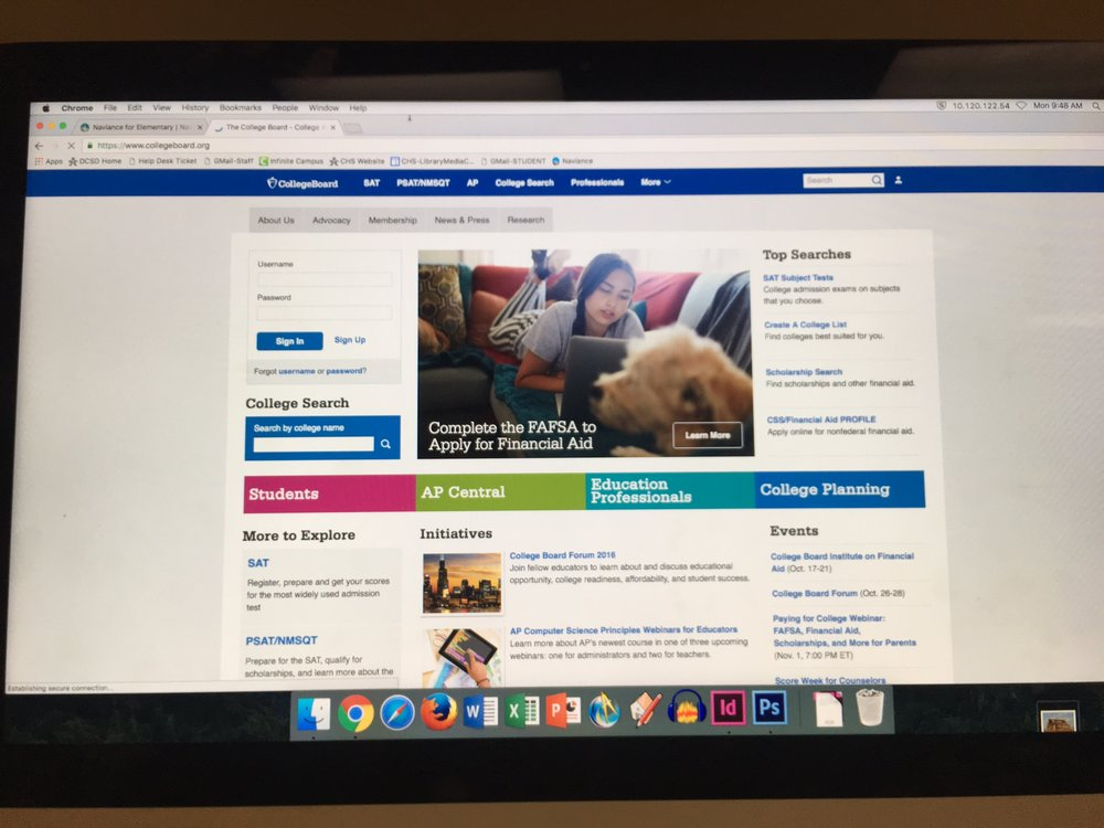 CollegeBoard keeping students informed