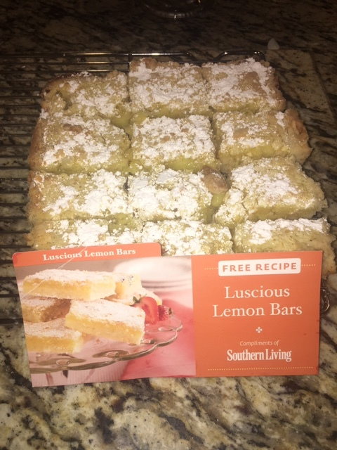 Tasty lemon bars baked to perfection