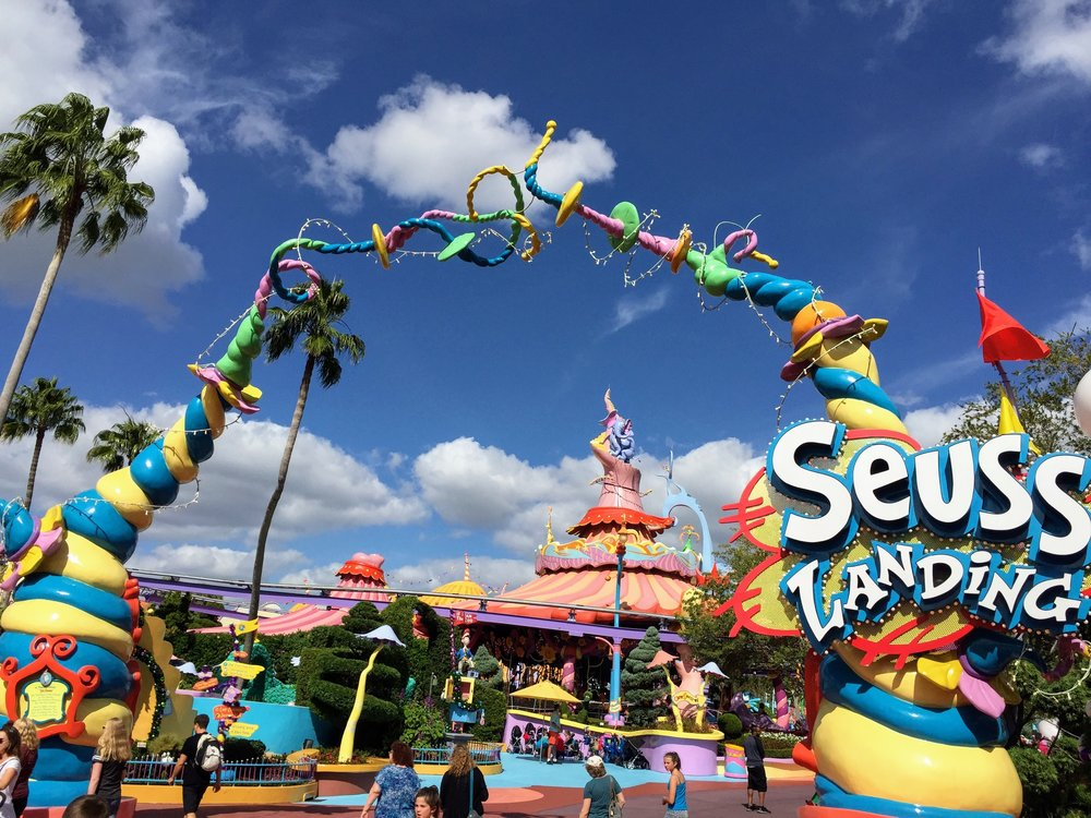 Photo of Dr. Seuss Landing at Universal Studios. Photo by Matthew McCarthy.