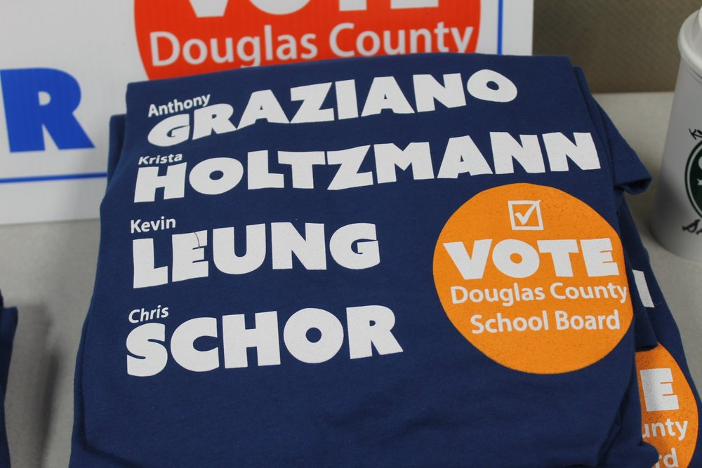 Some members running to be a part of the Douglas County School Board. Photo by Devon Williams
