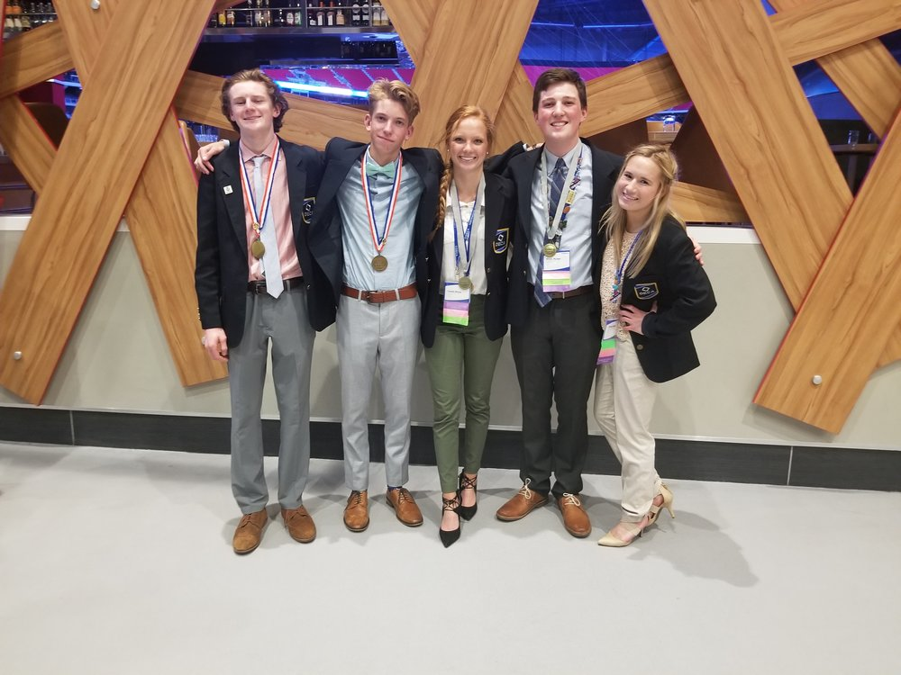 So proud of our DECA competitors. Photo by Bonnie Enright.