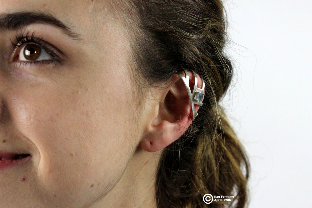 I aspired to reframe the image of hearing aids from a medical tool to a fashion statement. To achieve this I designed a line of interchangeable decorative ear cuff accessories, 3D modeled for a perfect fit snap on attachment for Embrace Hearing hearing aids.