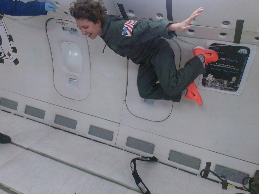 Melissa Guzman on a Parabolic Flight